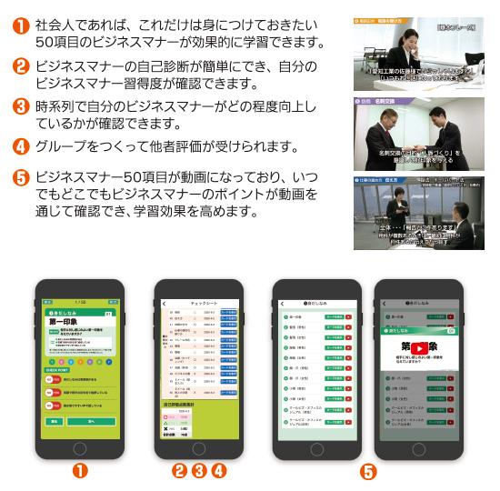 ビジネスマナーWebアプリでできること